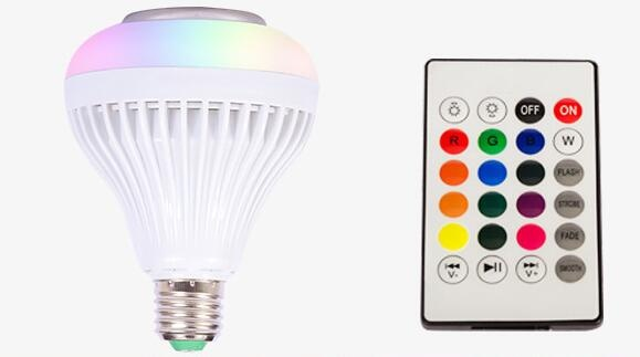 bluetooth speaker RGBW colorful music bulbs