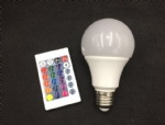 led bulb with remote control rgb rgbw optional