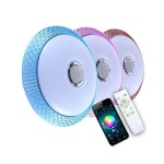 rgbw remote control bluetooth speaker music led ceiling light