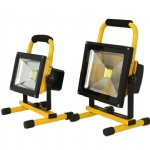 rechargeable battery floodlight portable with charger